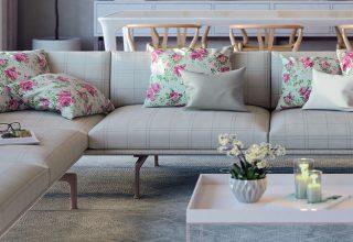 Como utilizar estampas florais na sala de estar e deixar o ambiente harmonioso